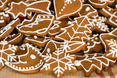 Gingerbread. Home made christmas cookies - gingerbread Royalty Free Stock Image