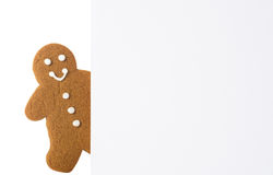 Gingerbread Advertising Board Royalty Free Stock Photo