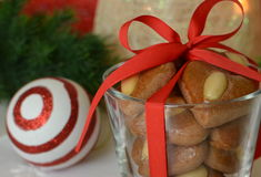 Gingerbread with almonds Royalty Free Stock Photos
