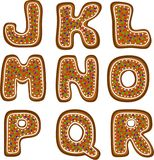 Gingerbread alphabet 2 Royalty Free Stock Photography