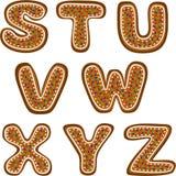 Gingerbread alphabet 3 Stock Photos