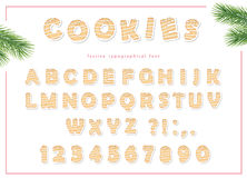 Gingerbread alphabet. For Christmas, birthday, tea party design. Royalty Free Stock Image
