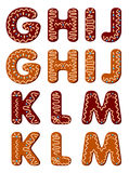 Gingerbread alphabet letters from G Stock Photography