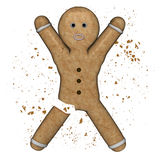 Gingerbread amputed. Royalty Free Stock Photos