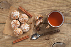 Gingerbread And Tea Royalty Free Stock Photography
