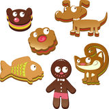 Gingerbread animals Stock Photos