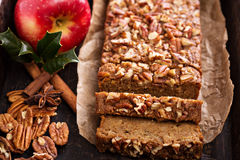 Gingerbread apple loaf cake Royalty Free Stock Photo