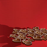 Gingerbread in background Royalty Free Stock Photography