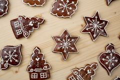 gingerbread background Stock Photos
