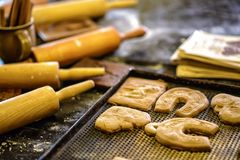 Gingerbread bakery in Torun. Poland stock images