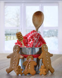 Gingerbread With Baking Utensils Stock Images