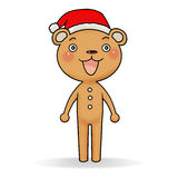 Gingerbread bear. Cartoon action icon of gingerbread bear standing Stock Image