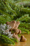 Gingerbread bear. S and christmas tree Royalty Free Stock Photos