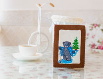Gingerbread bear new year Stock Photo