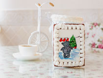 Gingerbread bear new year Royalty Free Stock Photo