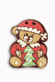 Gingerbread bear on white background Royalty Free Stock Image