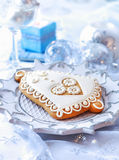 Gingerbread bell for Christmas Royalty Free Stock Photos