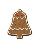 Gingerbread Bell Christmas Cookie Royalty Free Stock Photography