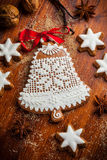 Gingerbread bell for Christmas Royalty Free Stock Photography