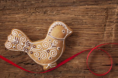 Gingerbread bird cookie Royalty Free Stock Photo
