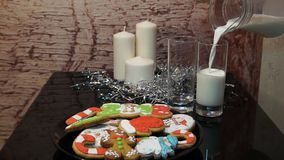 gingerbread Biscotti del pan di zenzero di Natale stock footage