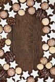 Gingerbread Biscuit Background Royalty Free Stock Photography