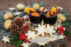 Gingerbread Biscuits and Mulled Wine Stock Images