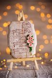Gingerbread with a bouquet of roses royalty free stock photos