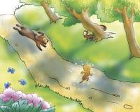 Gingerbread boy and dog vector illustration