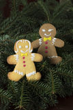 Gingerbread boy and girl Stock Photography