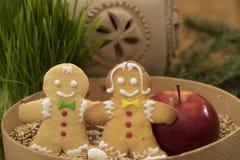 Gingerbread  boy and  girl Stock Photos
