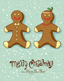 Gingerbread boy and girl Royalty Free Stock Images