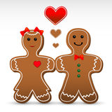 Gingerbread boy and girl cookies Stock Photography