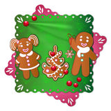 Gingerbread boy and girl Royalty Free Stock Photography