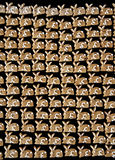 Gingerbread Bunny Background. Gingerbread bunny cookies on a black background Stock Photos