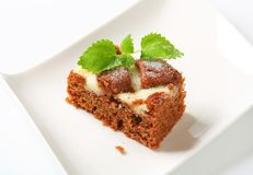 Gingerbread cake with cheese Royalty Free Stock Images
