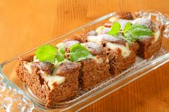 Gingerbread cake with cheese Stock Photos