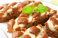 Gingerbread cake with cheese Royalty Free Stock Image