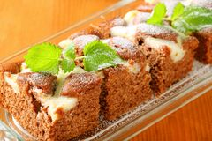 Gingerbread cake with cheese Stock Photo