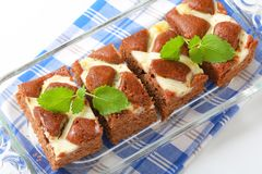 Gingerbread cake with cheese Stock Image