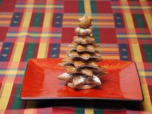 Gingerbread cake christmas tree Royalty Free Stock Photography