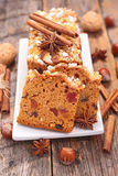 Gingerbread cake Stock Images