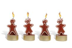 Gingerbread Candles Royalty Free Stock Photography