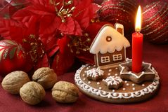 Gingerbread candlestick Stock Photos