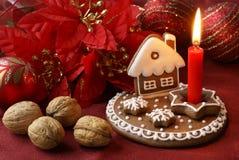 Gingerbread candlestick Stock Photos