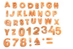 Gingerbread christmas alphabet Royalty Free Stock Images