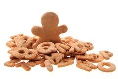 Gingerbread christmas alphabet Stock Photography