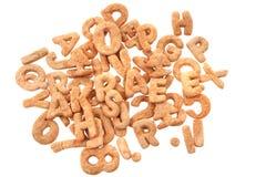 Gingerbread christmas alphabet Stock Photos