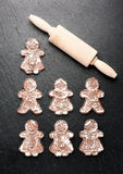 Gingerbread.  Christmas baking background Stock Photography