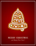 Gingerbread Christmas bell Royalty Free Stock Photography